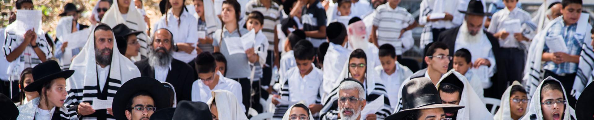 """תפילה הילדים שע""""י ארגון אלפי יהודה במירון ליד קבר רשב""""י"""